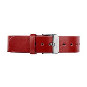 dark-red-leather-buckle-silver-1805c