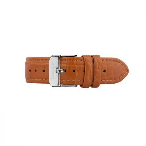 Strap (20mm) Crocodile P Brown B Silver